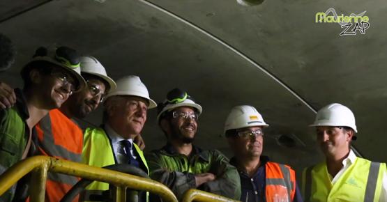 Antonio Tajani au Tunnel Lyon-Turin