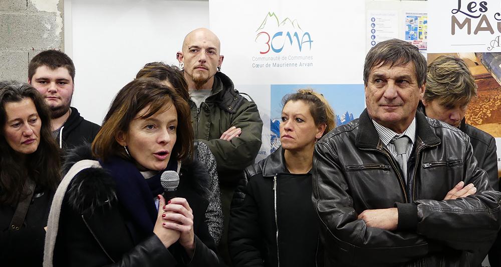 Inauguration Ateliers de Maurienne - 3CMA - Emilie Bonnivard