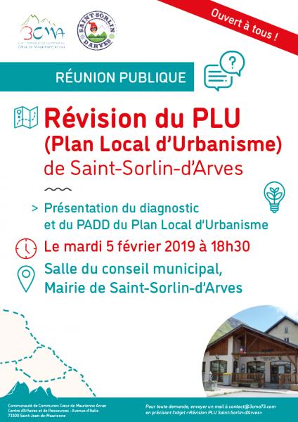 Réunion publique PLU Saint Sorlin