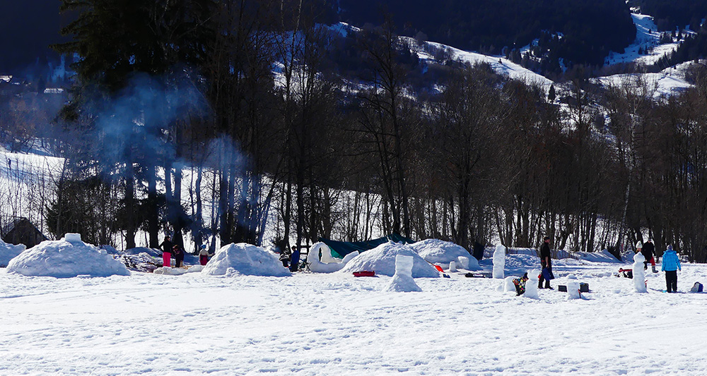 Igloos du village polaire