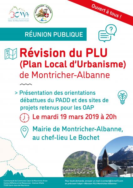 Réunion publique PLU Montricher