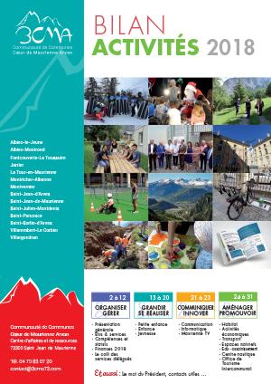Couverture bilan d'activités 2018 3CMA