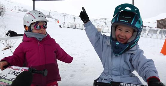 Course nationale de draisiennes sur neige au Corbier