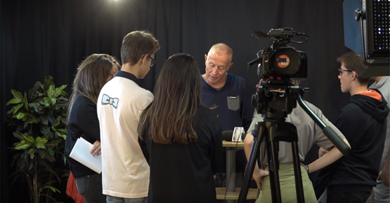 Visite des organes de presse par les lycéens du lycée Paul Héroult