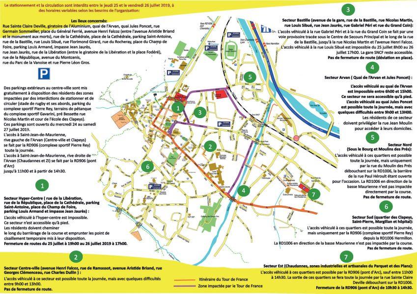 Plan de circulation Tour de France
