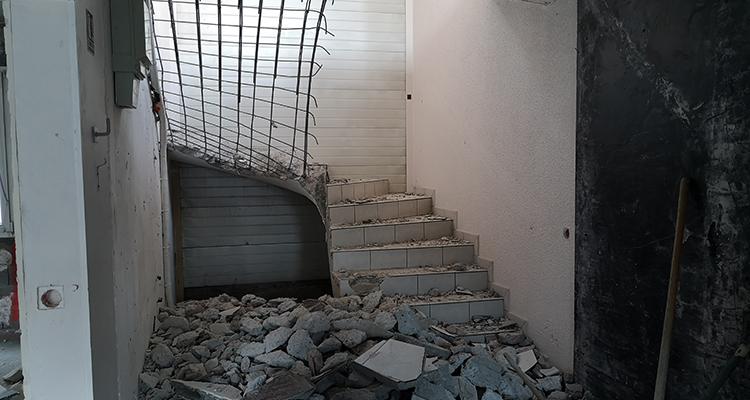 Escalier en travaux