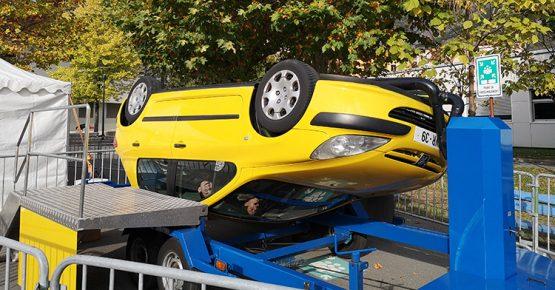 sécurité routière voiture retournement