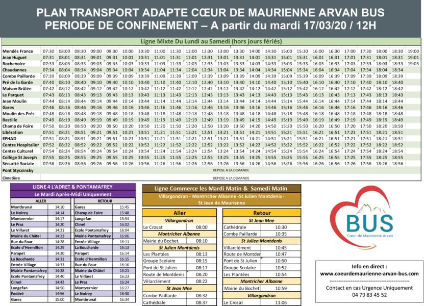 Plan bus 3CMA