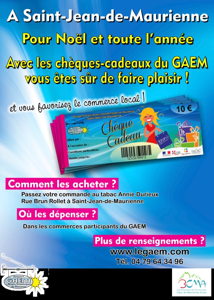 chèque cadeau GAEM