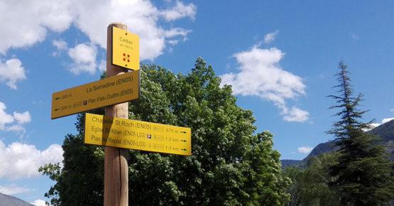 Panneau de randonnée Maurienne