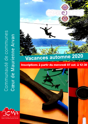 Programme animations vac automne 2020
