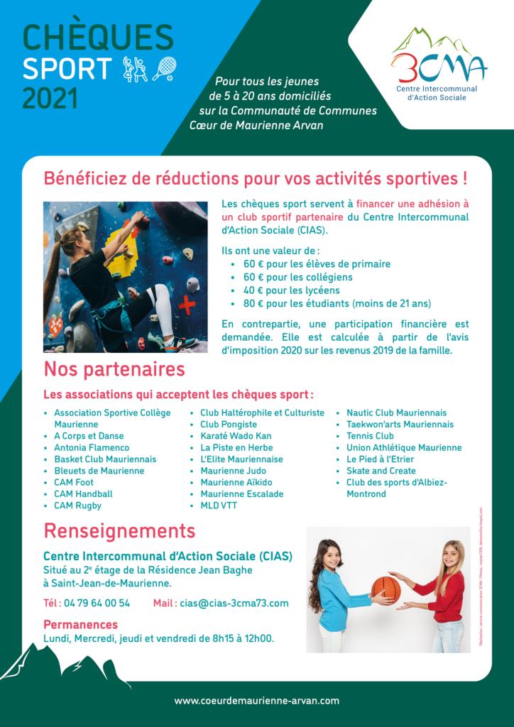 Chèques sport 3CMA