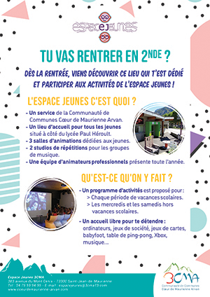 Flyer Espace Jeunes 3CMA