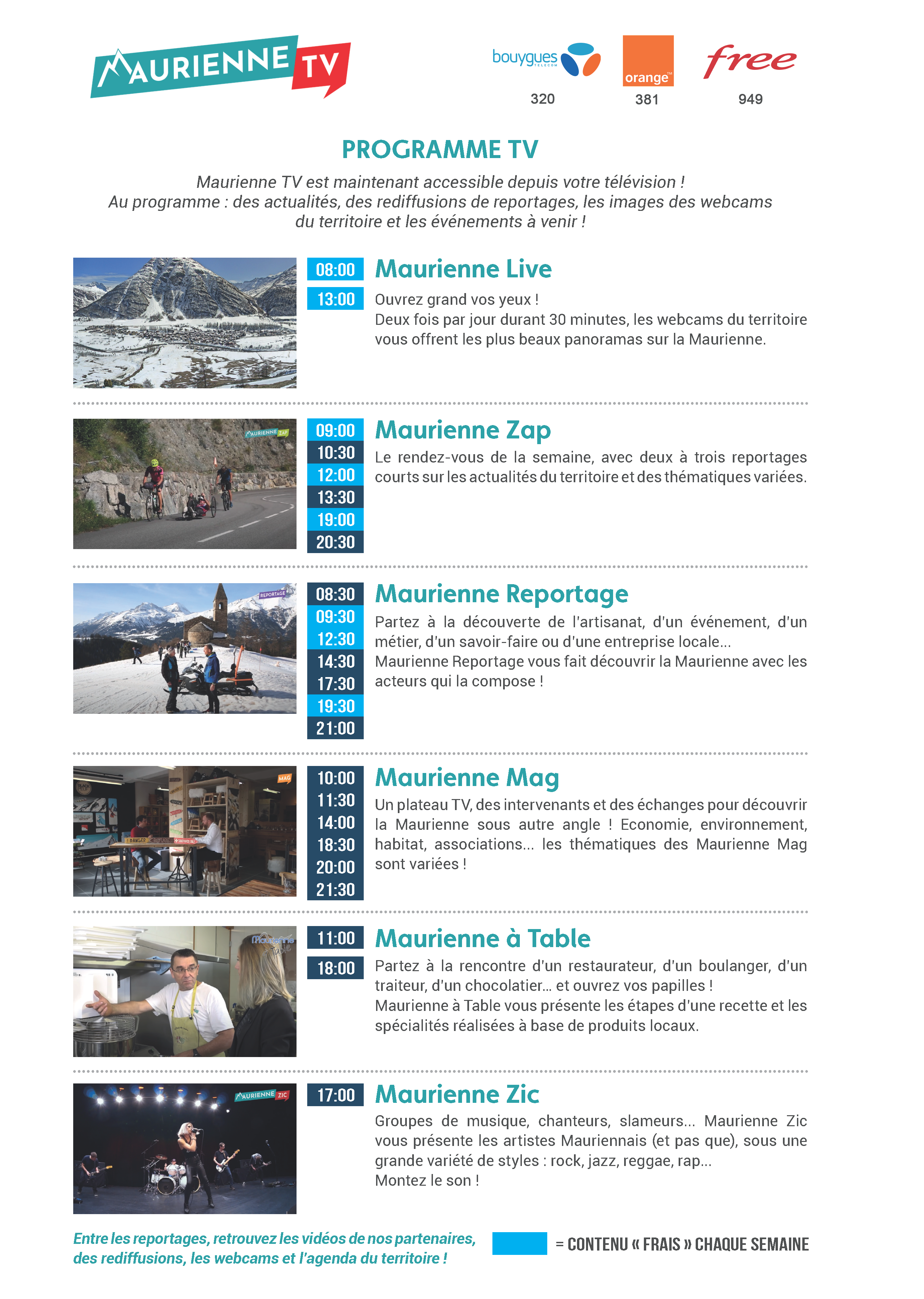 Programme TV Maurienne TV
