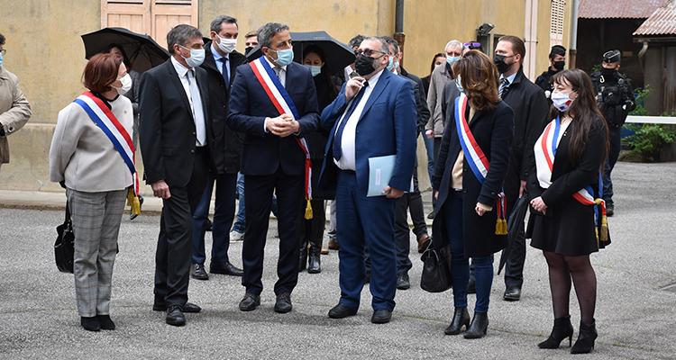 Visite de Joël Giroud secrétaire d'Etat